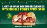 DOUBLE POINTS every evening until Christmas Eve @ Subway