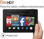 """Kindle Fire HD 7, 7"""" Tablet, 16GB, WiFi - Black (2014) £89 WITH CODE (see description) @ Tesco direct"""