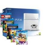 Playstation 4 White 500GB Console + Little Big Planet 3 + Minecraft + Lego Marvel Superheroes + Rabbids Invasion + Rayman legends £349.99 Delivered (Using Code) @ Rakuten ShopTo