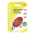 2 Uniross 2100 mAH AA rechargeable batteries + D MultiUsage Converter (use AA's as D batteries)  £0.99 @ Screwfix.com