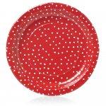 Wilko Christmas Plate Paper Polk Dot x 8 - £1