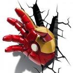 Iron Man Repulsor Hand 3D Deco Wall Light / Nightlight