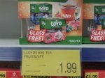 Loyds 40 Fruit Tea Bag Set with Free Glass 1.99 @ B & M