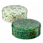 Poundland Decorative Holly Christmas Biscuit/Cake Tin £1.00