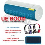 Win a Logitech UE Boom Bluetooth Speaker plus RU prize of Jabra Move Wireless Headphones + Jabra Solemate Mini @ HuffPost Tech @ Facebook