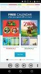 Free Mario & Luigi or Zelda calendar when you spend £30 or more @ nintendo uk store