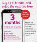 Buy a £15 bundle and get 2 free - Mobile By Sainsburys