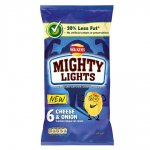 Walkers Mighty Lights Cheese & Onion Crisps 6pk 69p @ homebargains