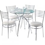 glass round table with chrome legs and 4 chairs £89.99 save £60! @ Argos