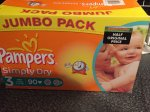 Pampers nappies 90 for £4.94 @ Farmfoods
