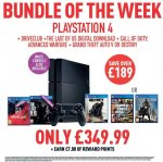 PS4 with DriveClub, The Last of Us (download), Call of Duty: Advanced Warfare and one of GTA V/Destiny for £350 at Game this week