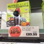 Nutribullet for £89.99 at Sainsburys