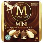Magnum Mini Classic, Almond & White Ice Cream 6 x 60ml now £2 @ Morrisons