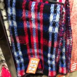 Big checked scarf from bank.. Was £16.00 now £1.00 instore