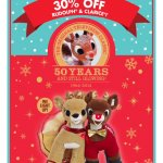 BUILD A BEAR 30% OFF RUDOLPH & CLARICE