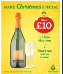 Magnum (1.5L) of Prosecco at Morrisons for £10 instore.