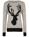 Sequin Stag Christmas Jumper  now £9.00 @ ASDA