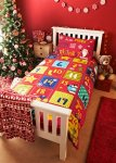 Christmas Print Duvet Single Set  Now £7.50 Was £15.00 @ Matalan