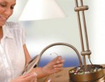 Win An Antique inspired tabletop lamp @  Lets Get Crafting