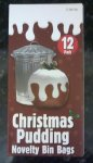 12 Novelty Christmas Pudding Refuse Bags £1 @ Poundworld