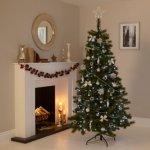 7ft Classic Woodland Pine Christmas Tree £25 B&Q