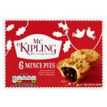 Mr Kipling mince pies 29p for 6 home bargains
