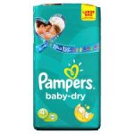 124 Pampers Baby Dry Size 4 Nappies for £15 at Tesco Groceries