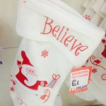 B&M Christmas Stockings 50p-£1!