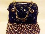 Negotiable Price! Womens Handbag Julien Macdonald LEAPORD PRINT DESIGNER BLACK TOTE BAG