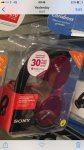 Sony MDRZX310 Foldable Headphones £12.50 (50% OFF) RED BLACK WHITE £12.50 @ Tesco instore