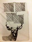 Deer kingsize duvet cover and four pillowcases - Solrok - £9 at Ikea