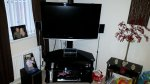 "40"" Samsung TV and Glass Stand"