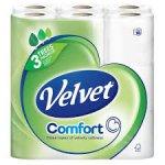 Velvet Comfort Toilet Rolls White x 18 for £5.00 @ Roys of Wroxham instore