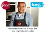 Win a meal for two at the Star of India and a 1 night stay in London @ TV Player