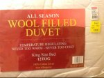 Wool Duvets, king size and double £29.99 @ TJ Hughes