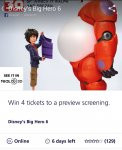 WIN tickets to a preview of Big Hero 6 via o2 Priority Moments