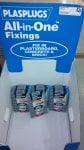 Plasplugs all in one fixings 83p for 52 fixings at Homebase