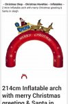 214cm inflatable christmas arch £24.99 @ QD Stores