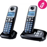 Sagemcom D210A Twin Black - Digital Cordless Telephone with Answer Machine £21.99 from Co-op Electrical