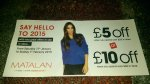 £5/£10 off @Matalan with £25/£40 spend in store with card holder voucher + 10% off with app download