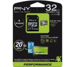 PNY Class 10 microSD Memory Card - 32 GB £14.99 @ PC World/Currys ,(with adapter)