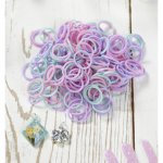 Frozen Anna and Elsa and Olaf and Sven loom bands multi with charms £0.72 delivered @ bhs