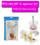 Win a Mothercare Fill 'n Squeeze Baby Food Pouch set @ Gurgle
