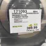 Samsung wd806u4sagd washer dryer £399.99 @ Costco
