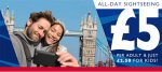 Travel the river Thames for just £5.00 @ City Cruises