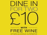 M&S £10.00 Dine In For Two offer