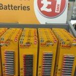Cheap batteries at pound land £1 @ Poundland