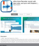 Free iOS eXtra Voice Recorder: record, edit, take notes, and sync with Dropbox (Perfect for lectures or meetings)