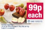 6 large gala apples/conference pears/bagges baking potatoes all 99p @ co-op