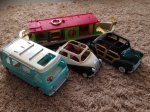 Sylvanian Boat, Wedding Car, Car & Camper Van